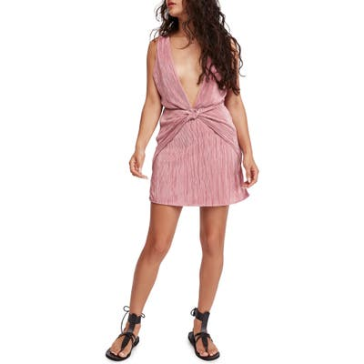 Free People Twist & Shout Minidress, Pink