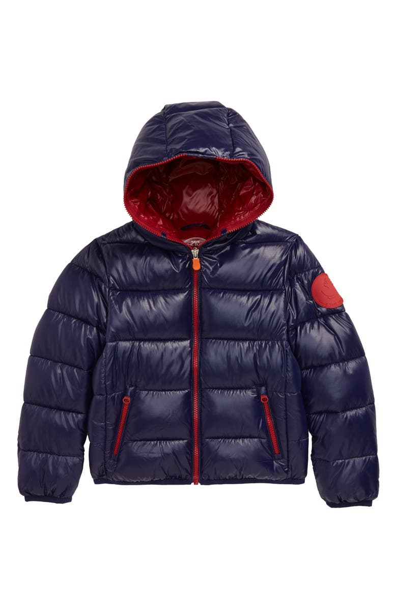 SAVE THE DUCK Water Resistant Puffer Jacket, Main, color, EVENING BLUE