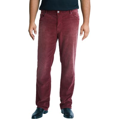 Mvp Collections Straight Leg Corduroy Jeans, Red