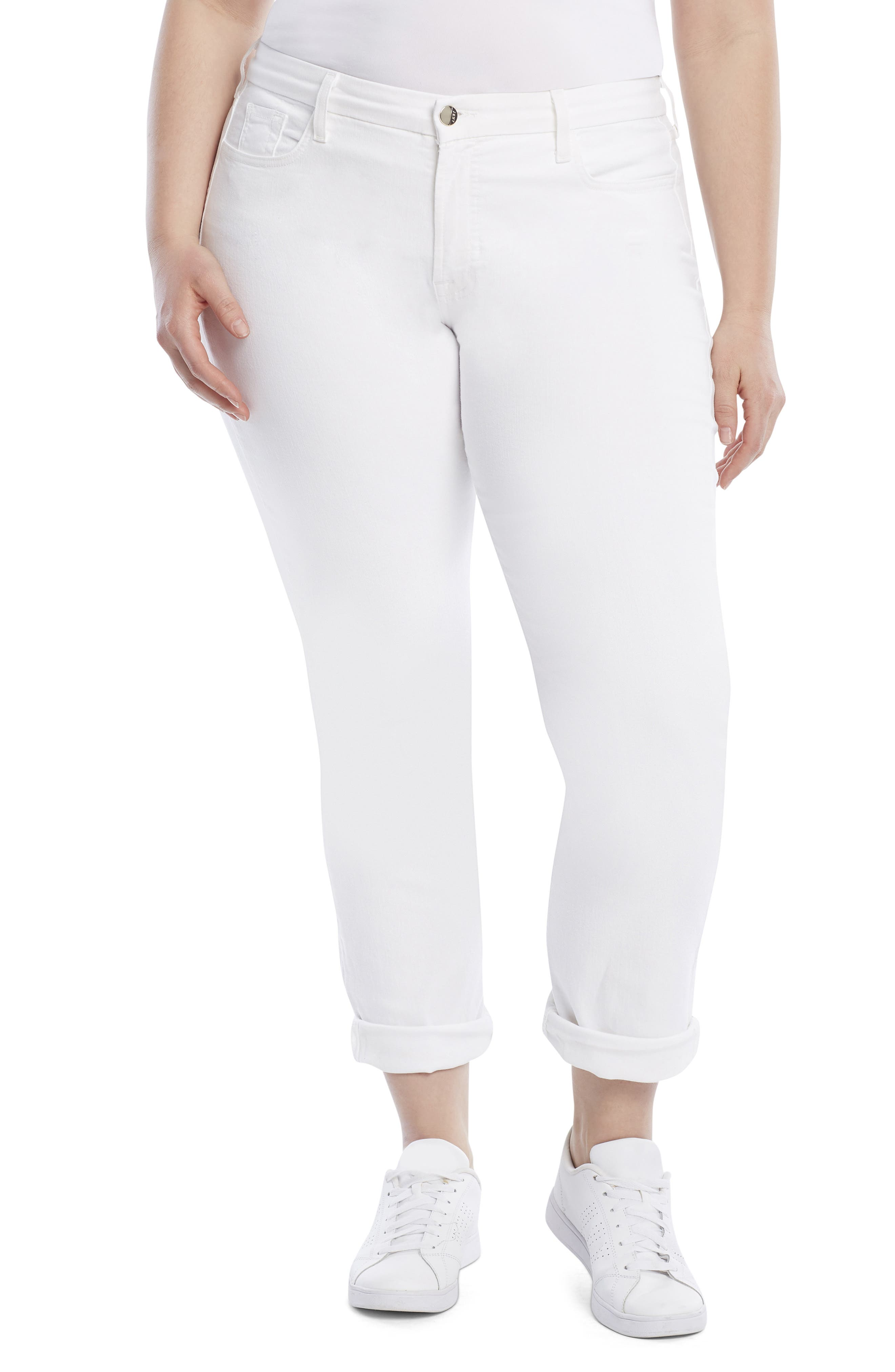 Straight Crop & Roll Jeans