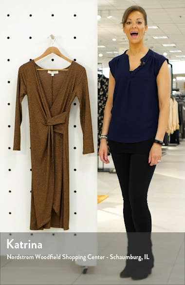 Rib Long Sleeve Midi Dress, sales video thumbnail
