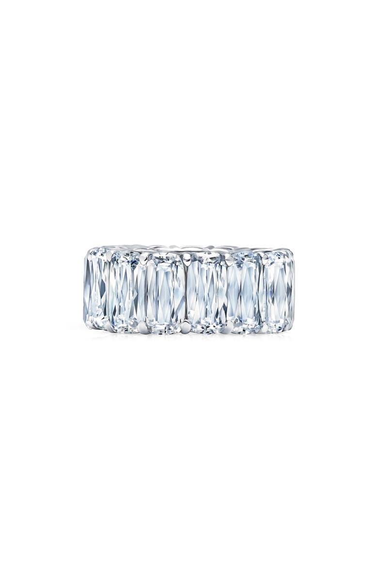 LAFONN Oversized Eternity Band, Main, color, SILVER/ CLEAR