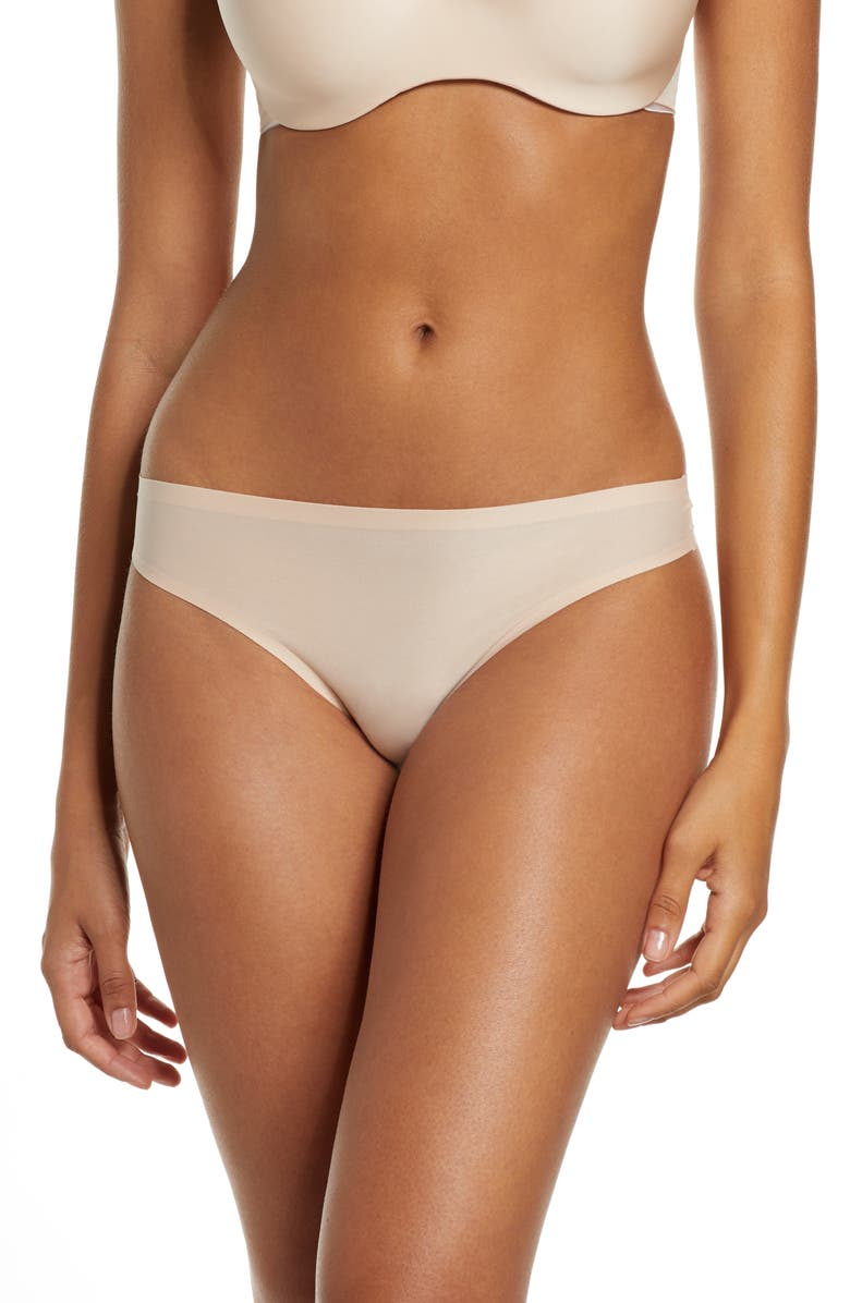 CHANTELLE LINGERIE Soft Stretch Seamless Thong, Main, color, NUDE BLUSH