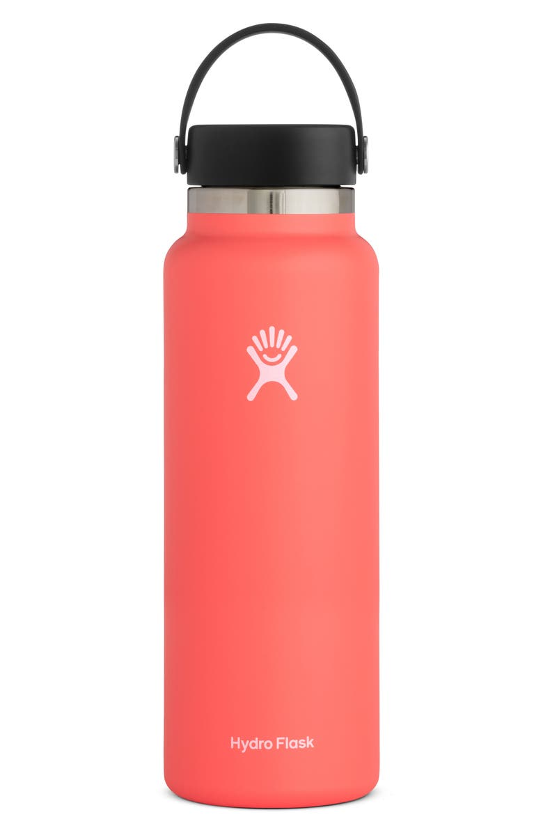 HYDRO FLASK 40-Ounce Wide Mouth Cap Bottle, Main, color, HIBISCUS