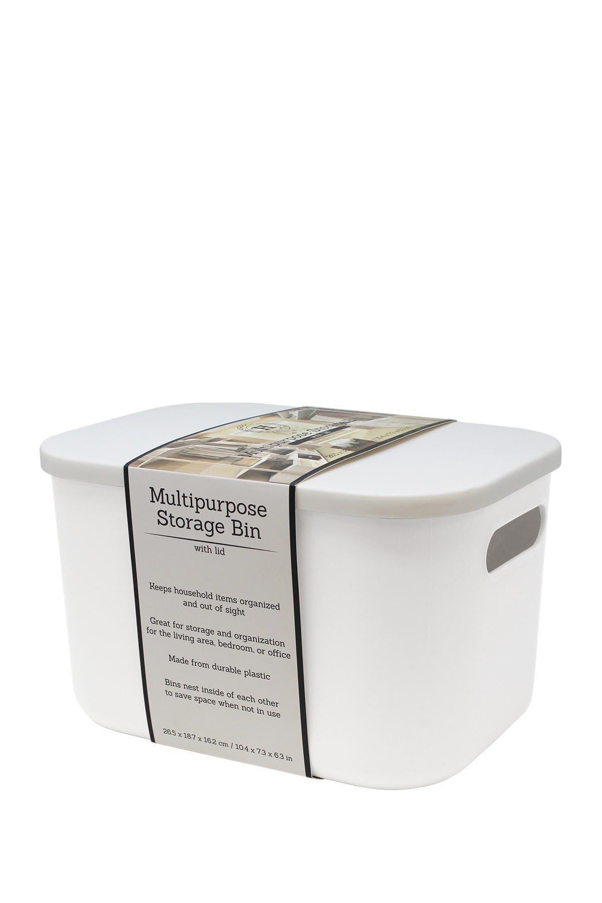 Image of Gourmet Home Heritage White Large Multipurpose Storage Bin