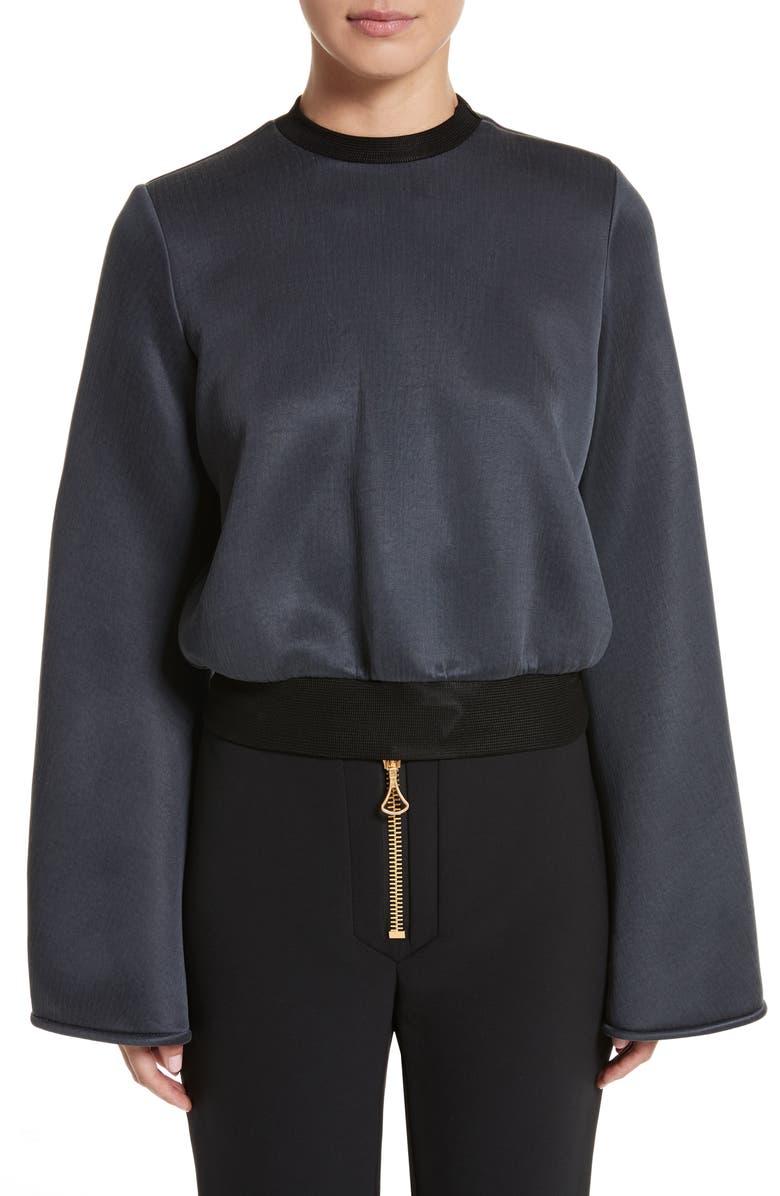 ELLERY Immortal Flare Sleeve Sweater, Main, color, 020