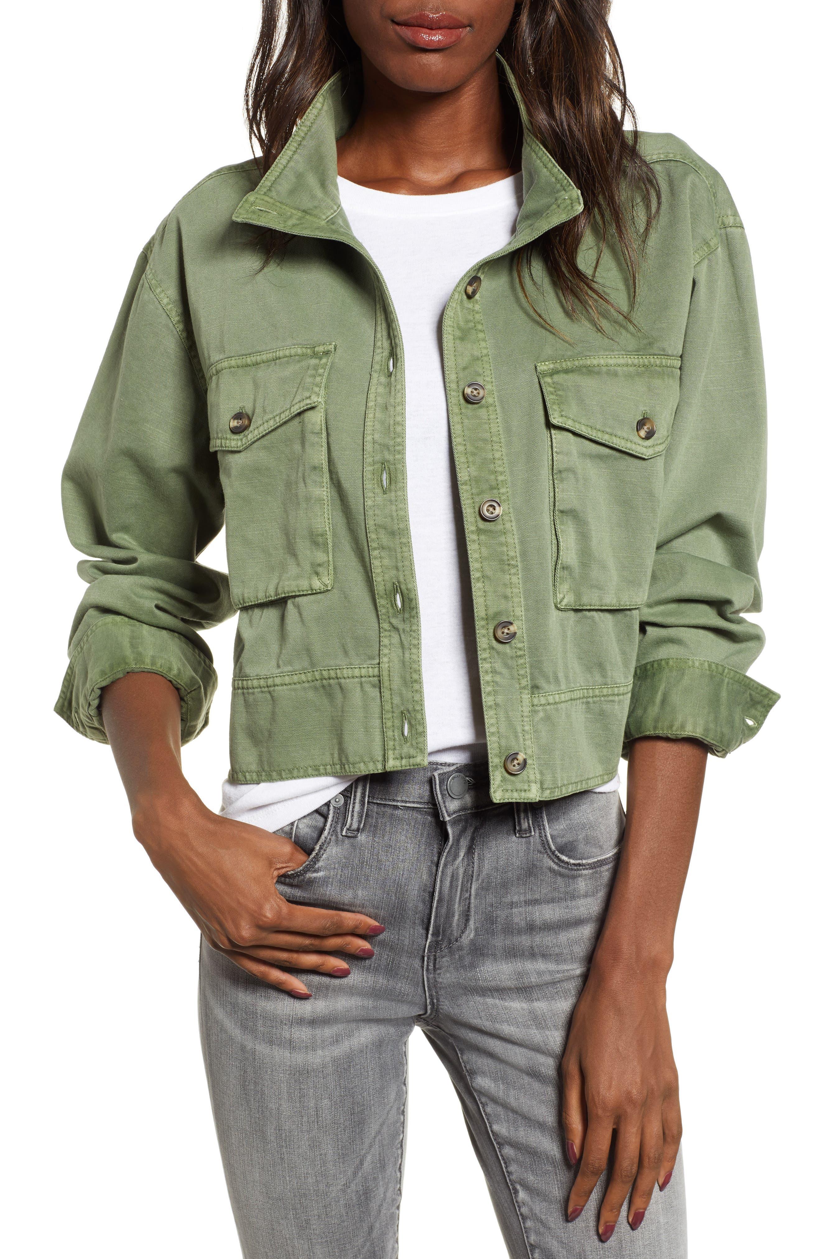 Crop Military Jacket, Main, color, 301