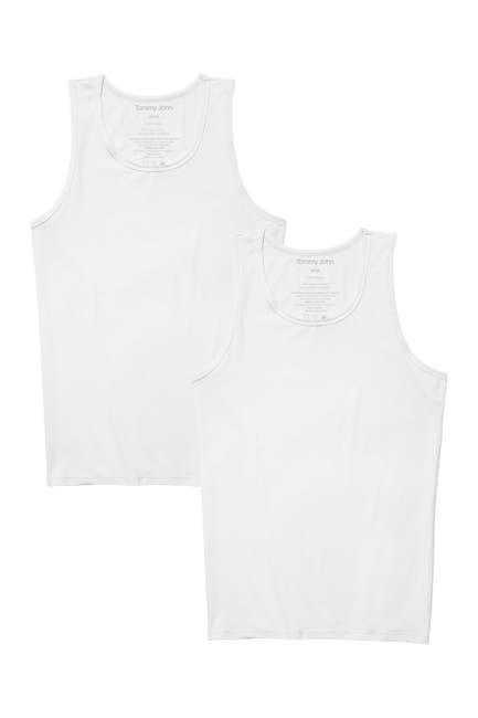 Image of Tommy John Basics Stay-Tucked Tank Undershirt - Pack of 2