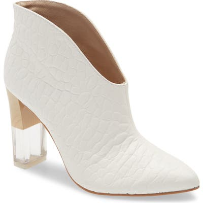 42 Gold Kisses Bootie- White