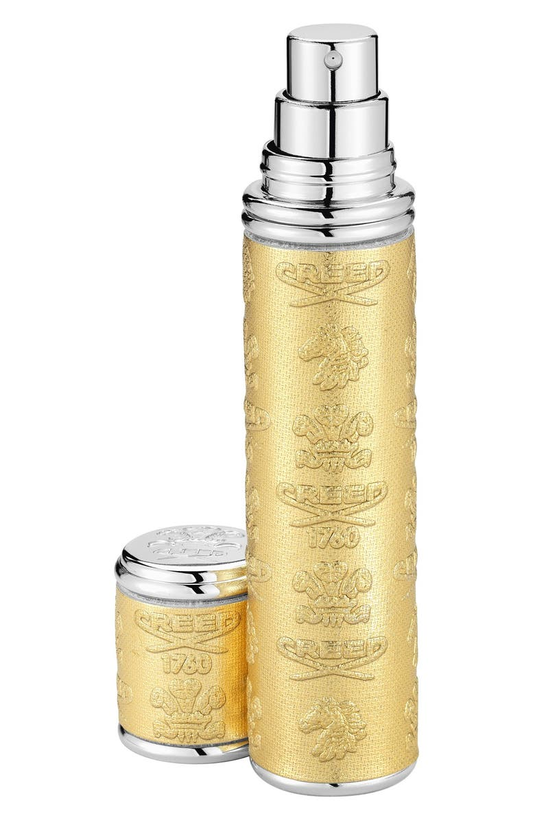 CREED Silver Leather with Gold Trim Pocket Atomizer, Main, color, NO COLOR