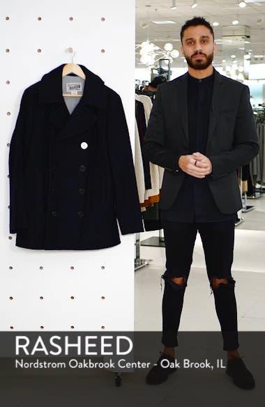 Slim Fit Wool Blend Peacoat, sales video thumbnail