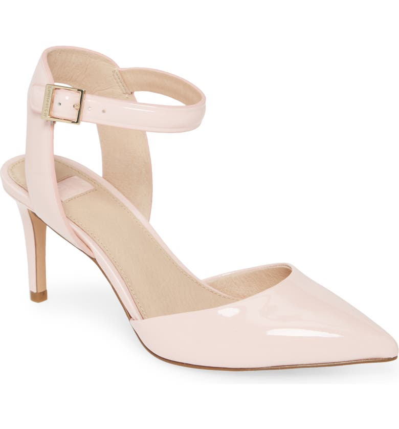 LOUISE ET CIE Kota Ankle Strap Pump, Main, color, PINK PATENT LEATHER
