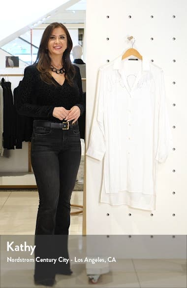 Ada Embroidered Lace Cover-Up Shirtdress, sales video thumbnail