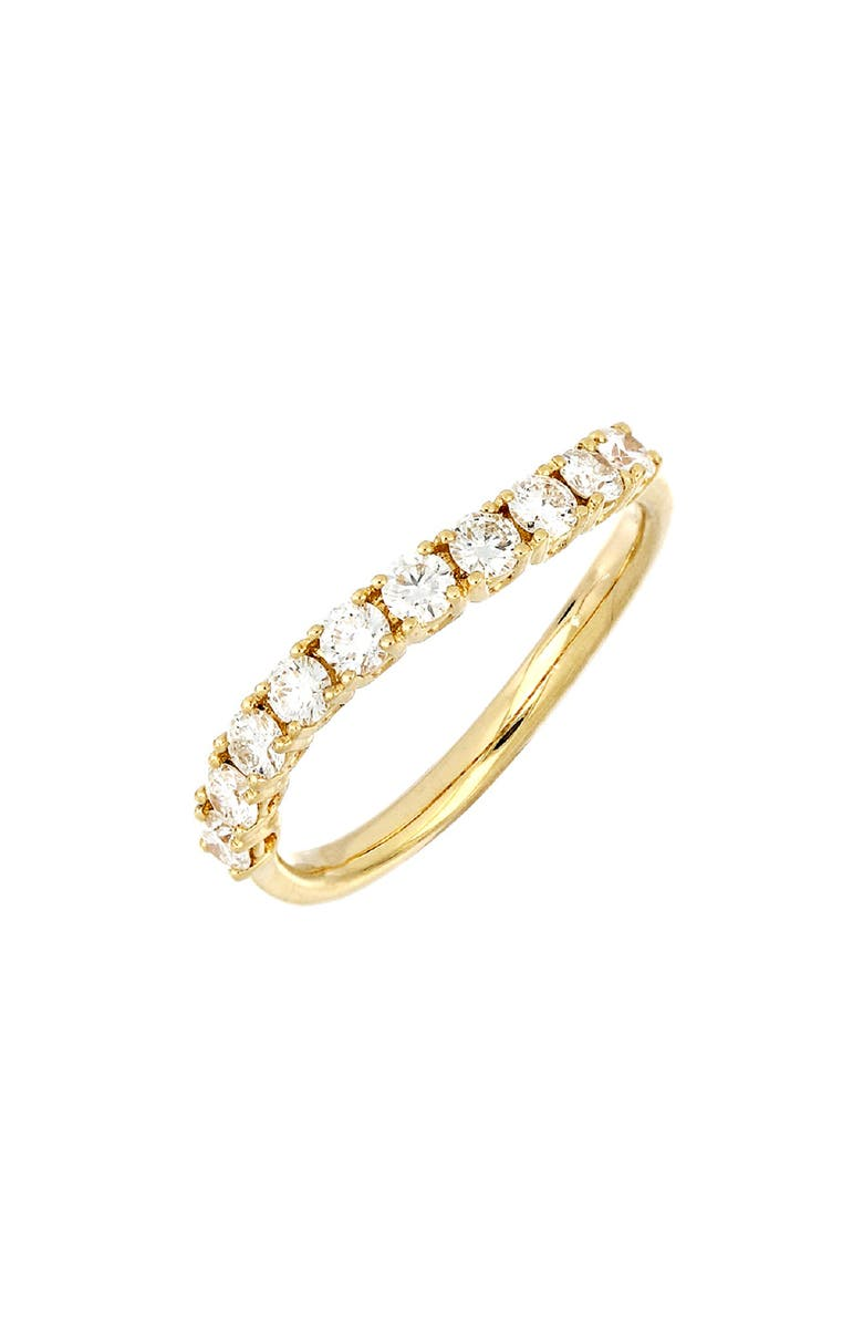 BONY LEVY Audrey Diamond Curve Ring, Main, color, YELLOW GOLD/DIAMOND