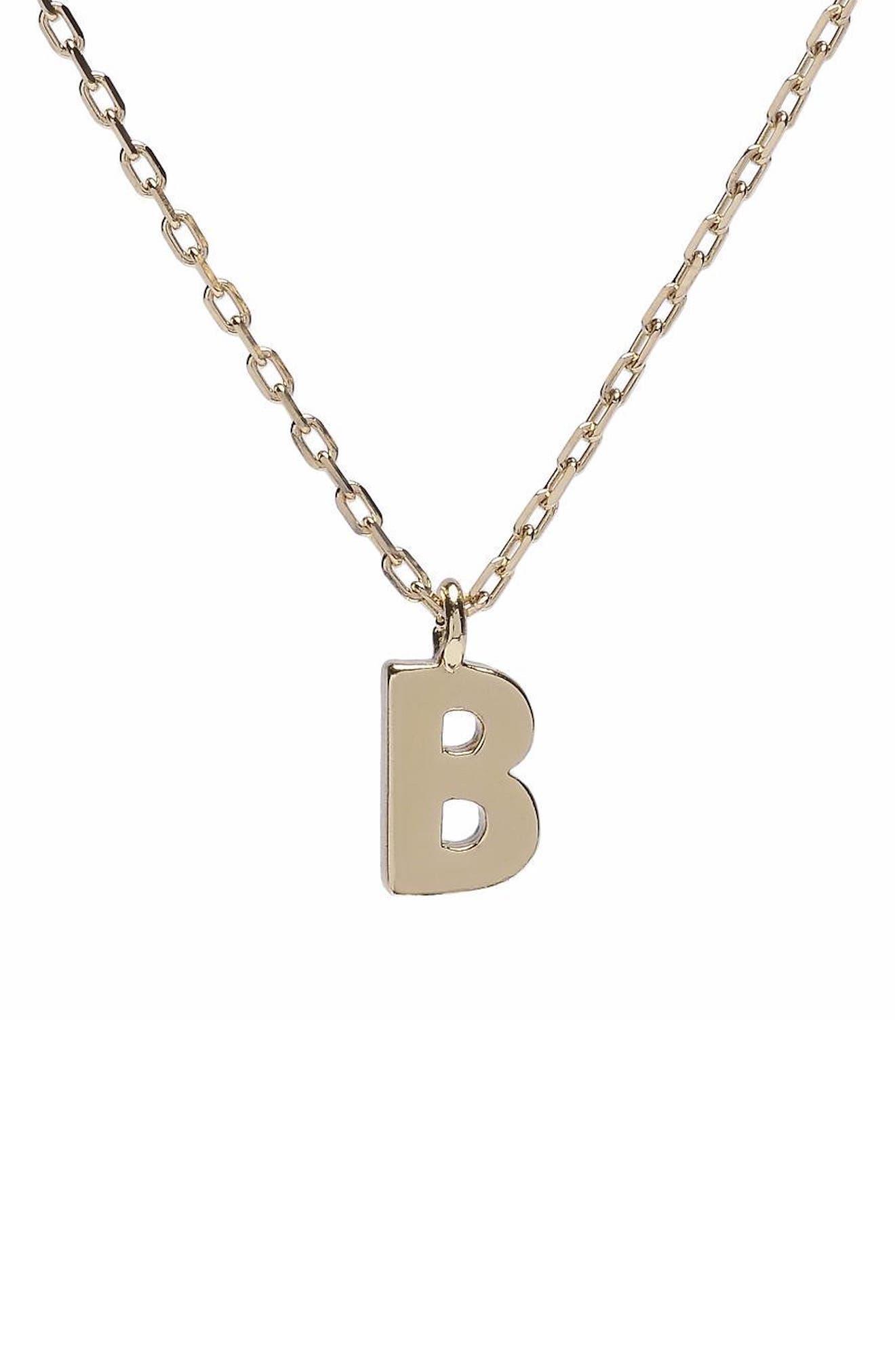 Minimal Initial Pendant Necklace