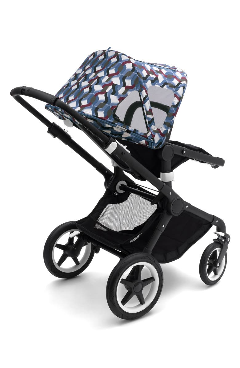 BUGABOO Breezy Waves Sun Canopy for Bugaboo Fox & Cameleon³ Strollers, Main, color, WAVES PRINT