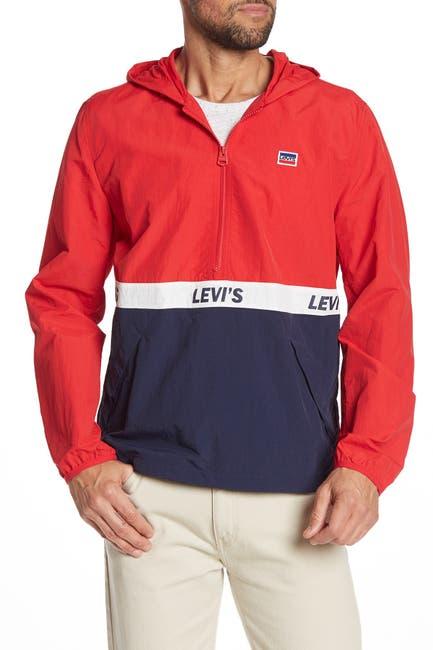 Image of Levi's Taslan Logo Half Zip Pullover