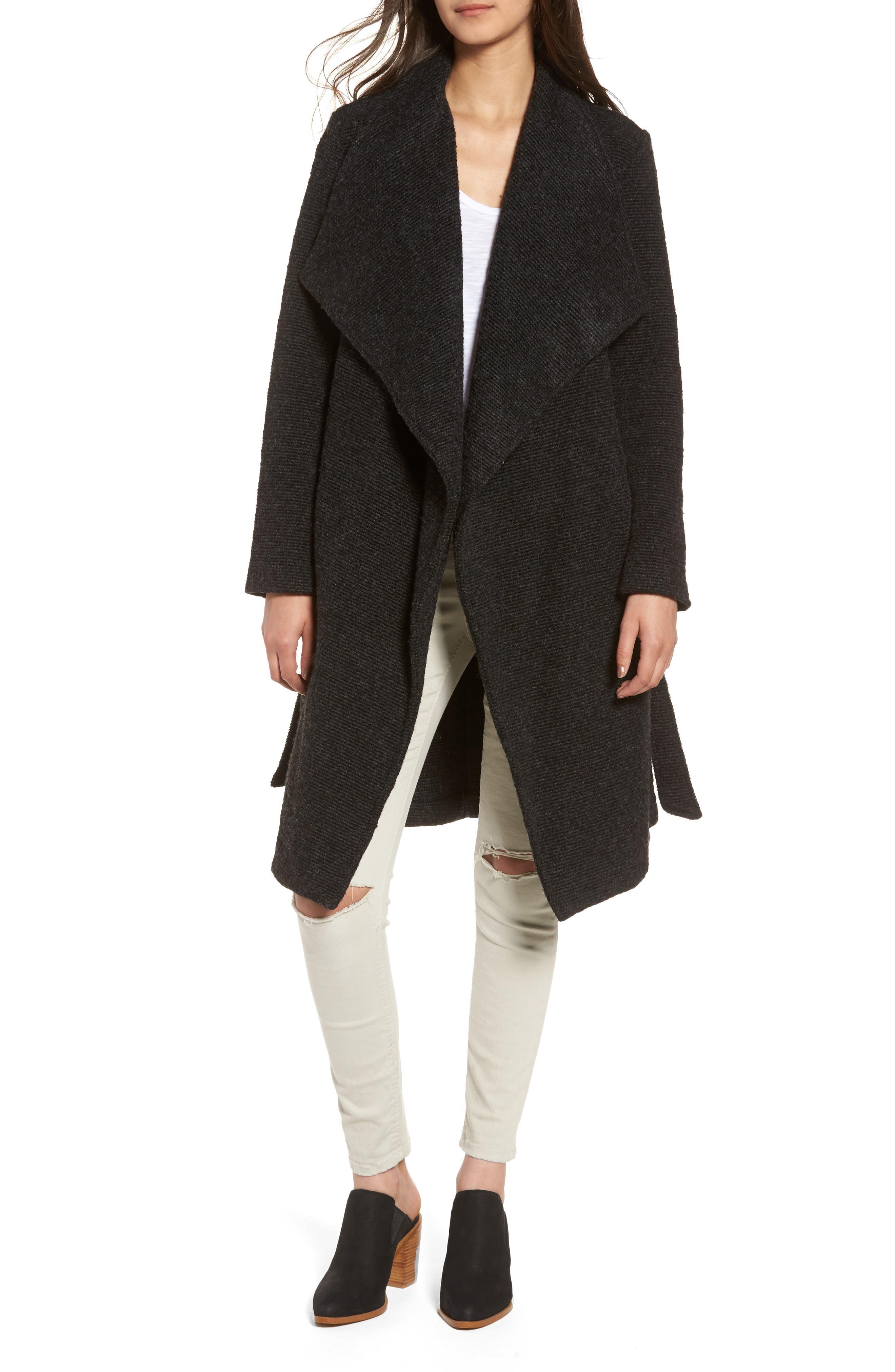 ,                             Issac Ribbed Blanket Coat,                             Alternate thumbnail 4, color,                             025