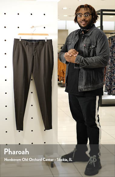 Flat Front Solid Stretch Wool Trousers, sales video thumbnail