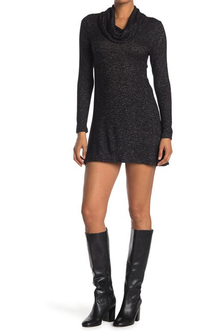 Image of MAX & ASH Cowl Neck Knit Dress