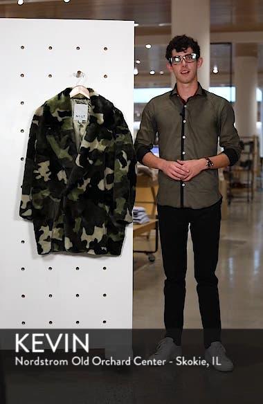 Camo Print Faux Fur Coat, sales video thumbnail
