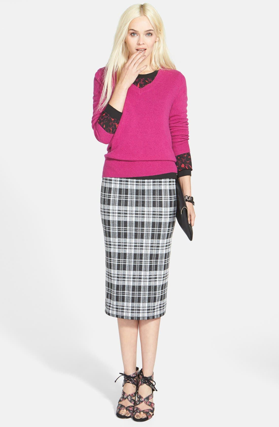 ,                             Cashmere V-Neck Sweater,                             Alternate thumbnail 81, color,                             652