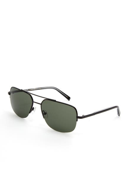 Image of Ted Baker London Semi Rimless Metal Navigator Sunglasses