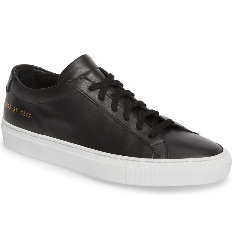 COMMON PROJECTS Original Achilles Low Sneaker, Main, color, BLACK
