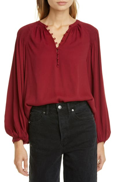 Joie Tops ADDALLA CREPE POET BLOUSE