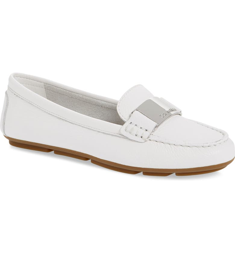 CALVIN KLEIN Lisette Loafer, Main, color, WHITE LEATHER