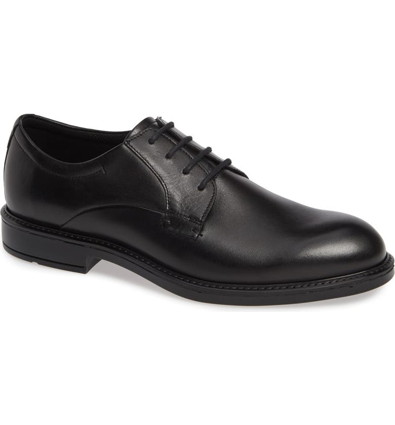 ECCO Vitrus III Plain Toe Derby, Main, color, BLACK LEATHER