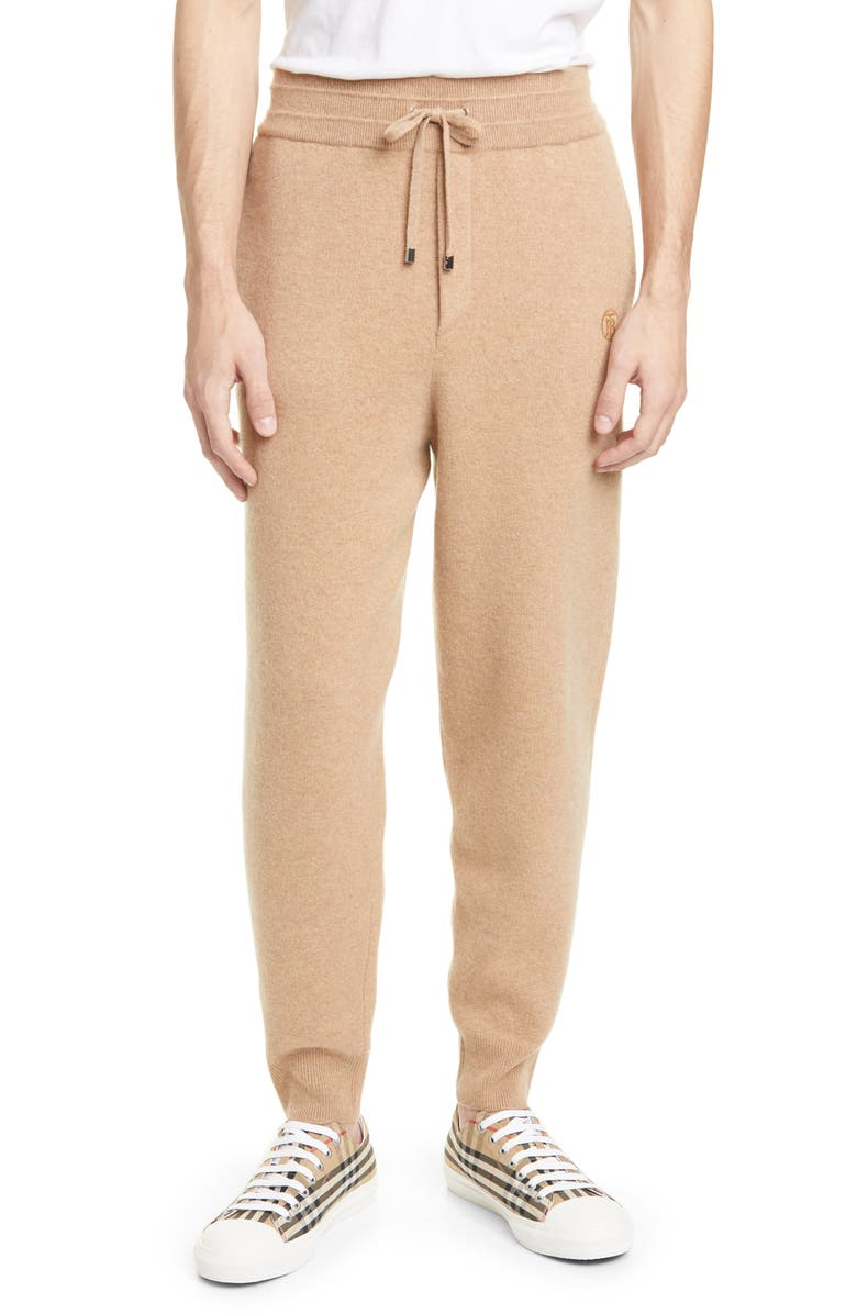 BURBERRY Huntley Jogger Pants, Main, color, PALE COFFEE
