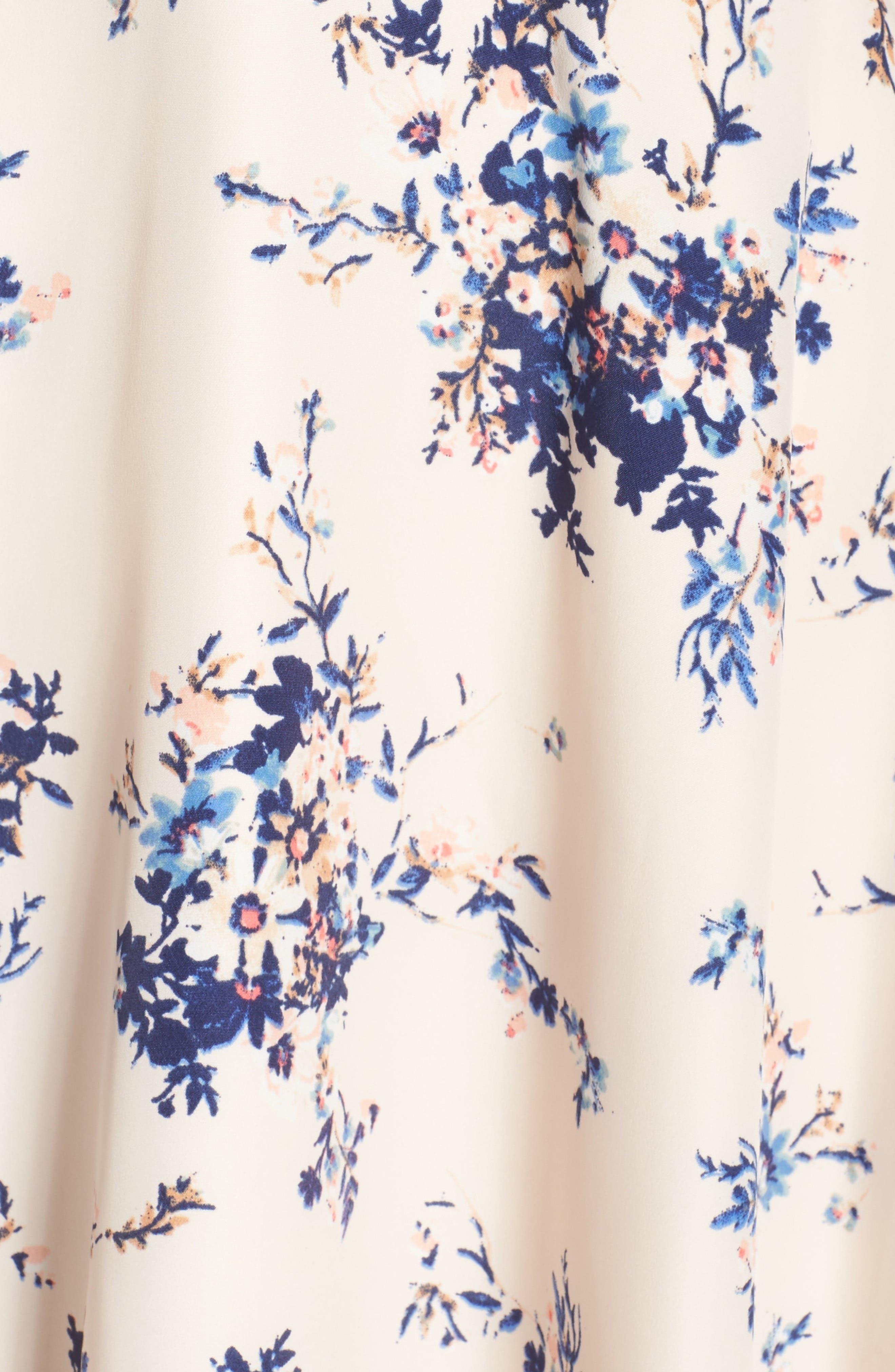,                             Chasing Butterflies Cold Shoulder Dress,                             Alternate thumbnail 6, color,                             908