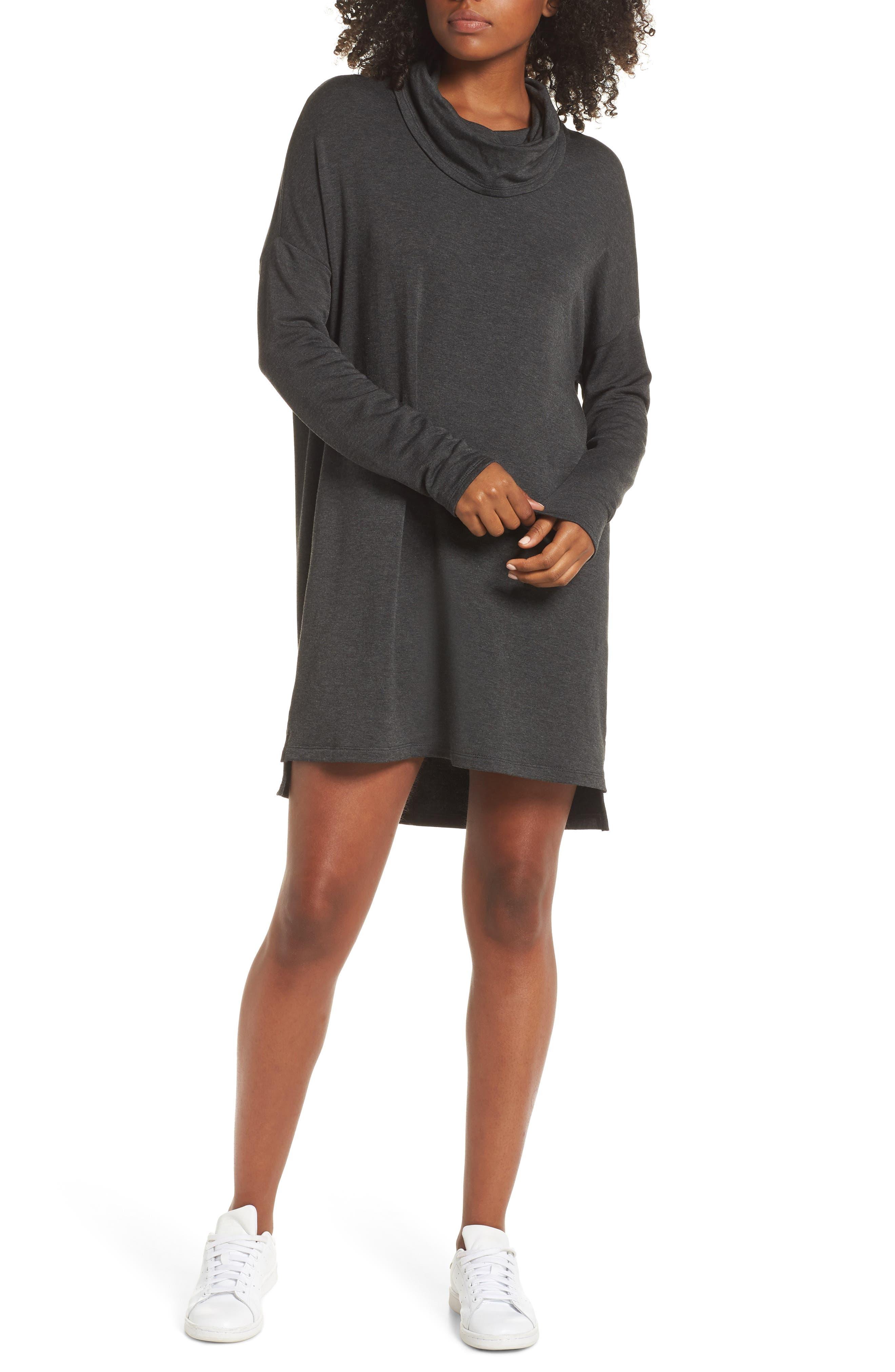 Cowl Neck Dress, Main, color, 020