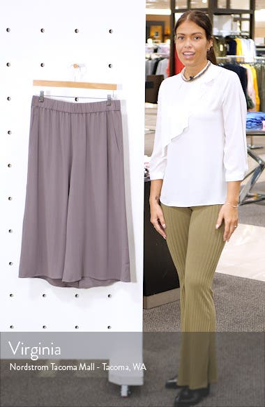 Wide Leg Crop Silk Pants, sales video thumbnail