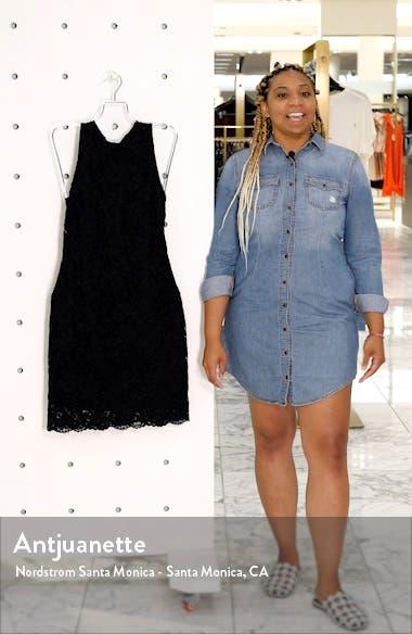 Bow Back Lace Sheath Dress, sales video thumbnail
