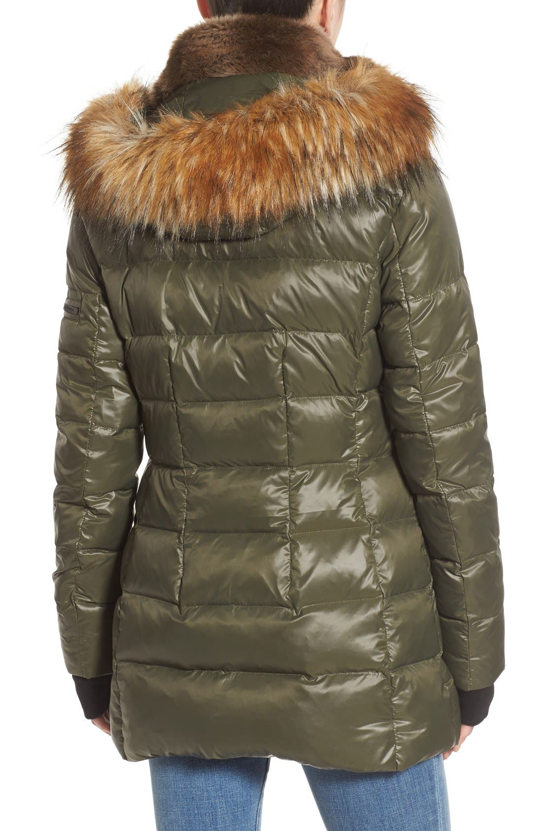,                             'Chelsea' Gloss Down Jacket with Removable Hood and Faux Fur Trim,                             Alternate thumbnail 9, color,                             330
