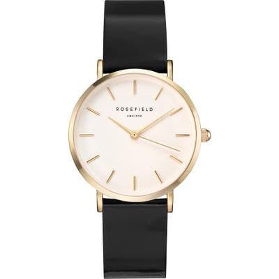 Rosefield Gloss Strap Watch,