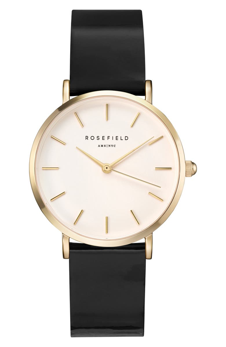 ROSEFIELD Gloss Strap Watch, 33mm, Main, color, 001