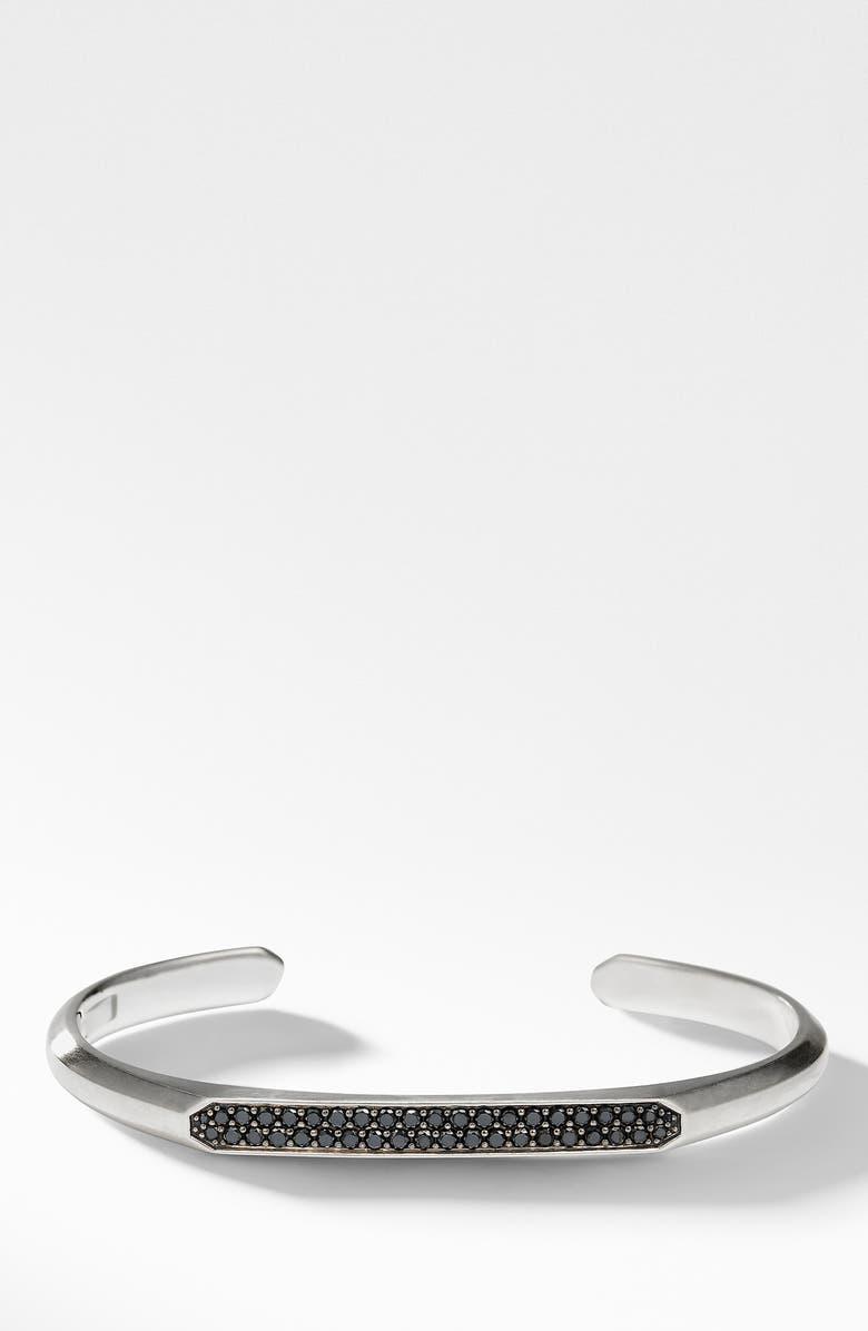DAVID YURMAN Streamline Cuff Bracelet with Black Diamonds, Main, color, BLACK DIAMOND