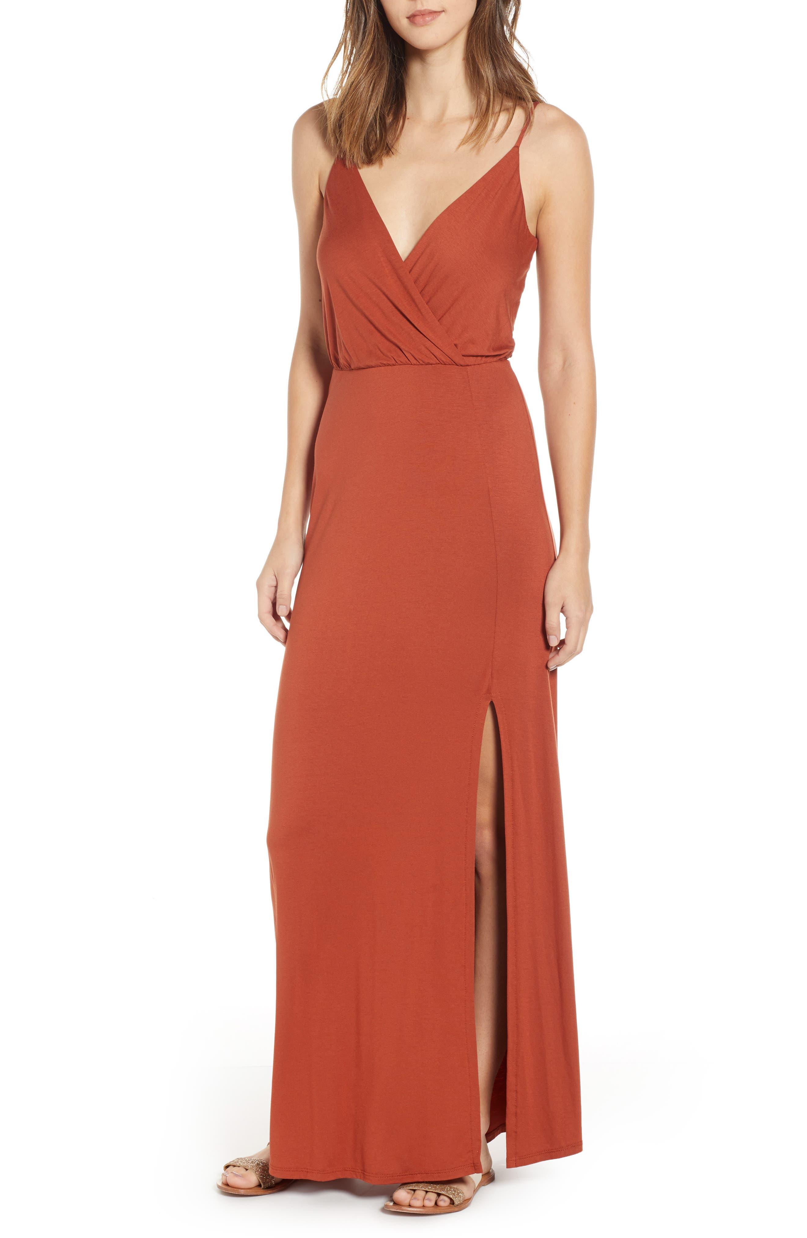 ,                             Surplice Neck Knit Maxi Dress,                             Main thumbnail 20, color,                             800