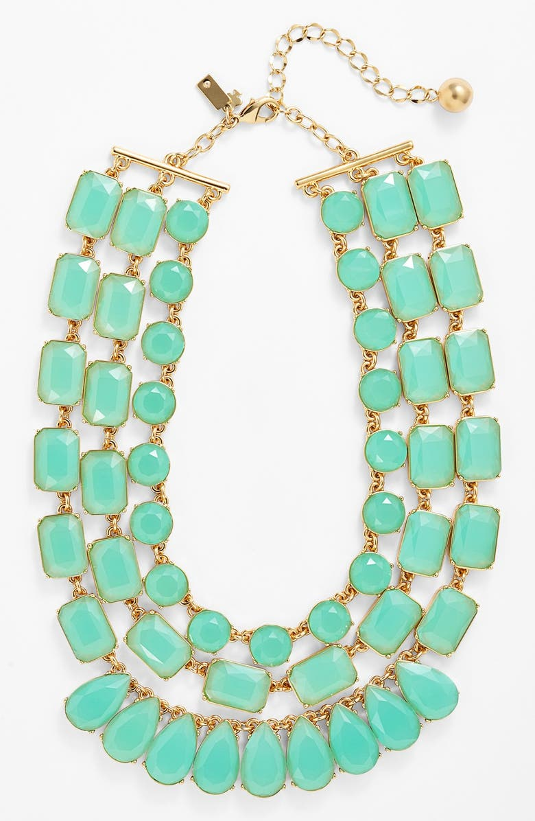 KATE SPADE NEW YORK 'riviera garden' stone multistrand necklace, Main, color, 440