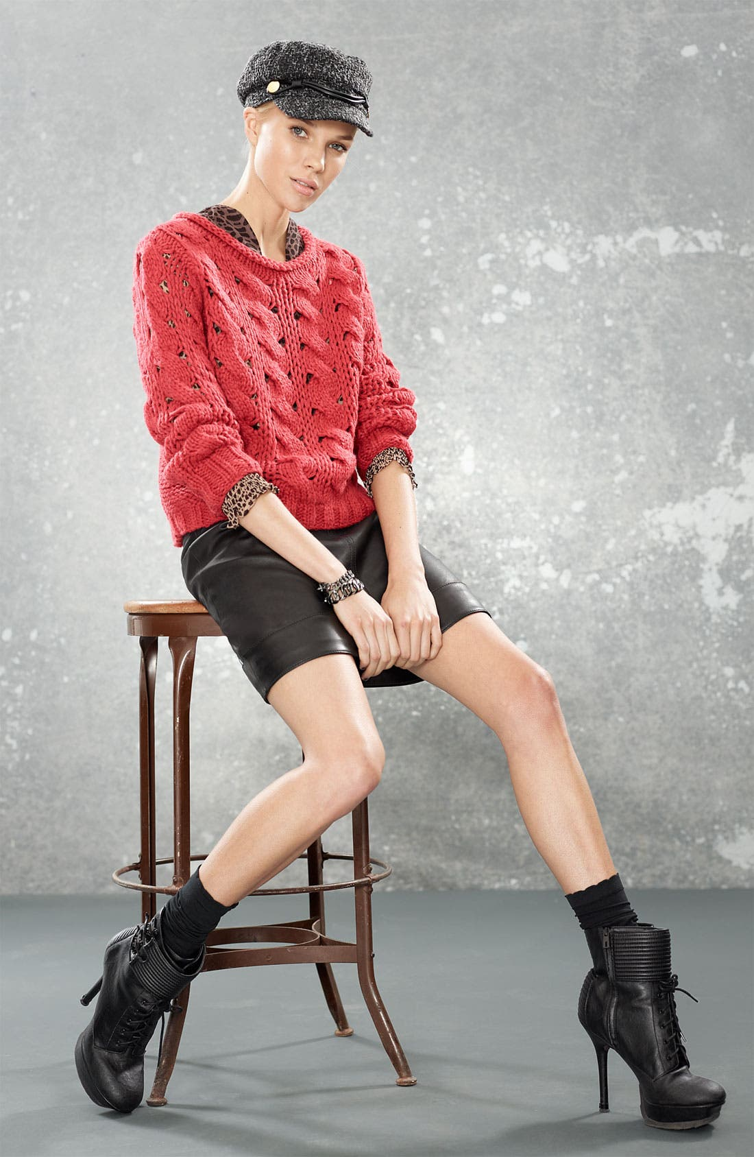 ,                             Cable Knit Sweater,                             Alternate thumbnail 2, color,                             649