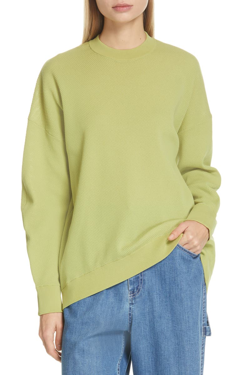 TIBI Lightweight Tech Sweater, Main, color, 300
