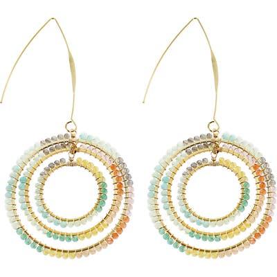 Panacea Multi Crystal Circle Drop Earrings