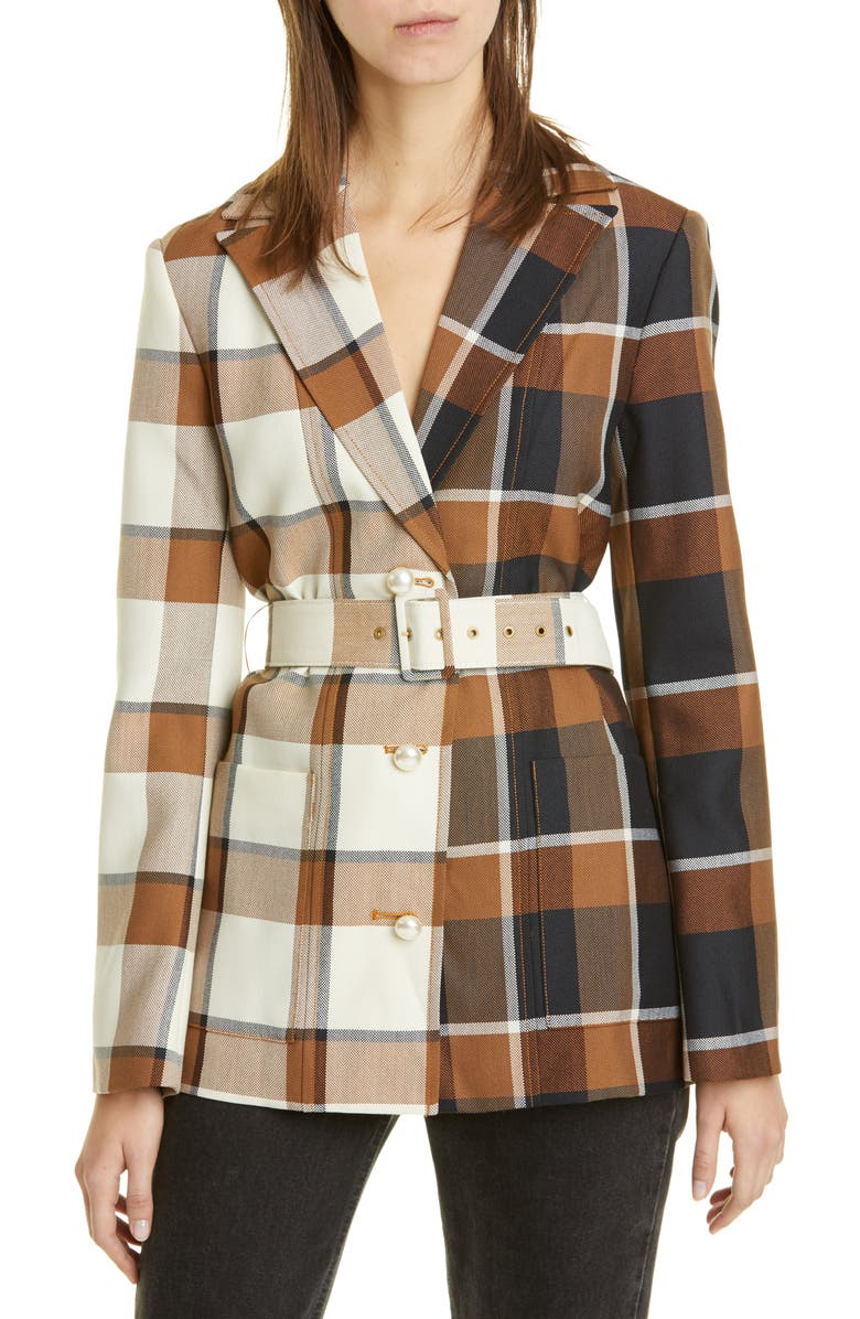 STAUD Pepper Belted Coat, Main, color, 200