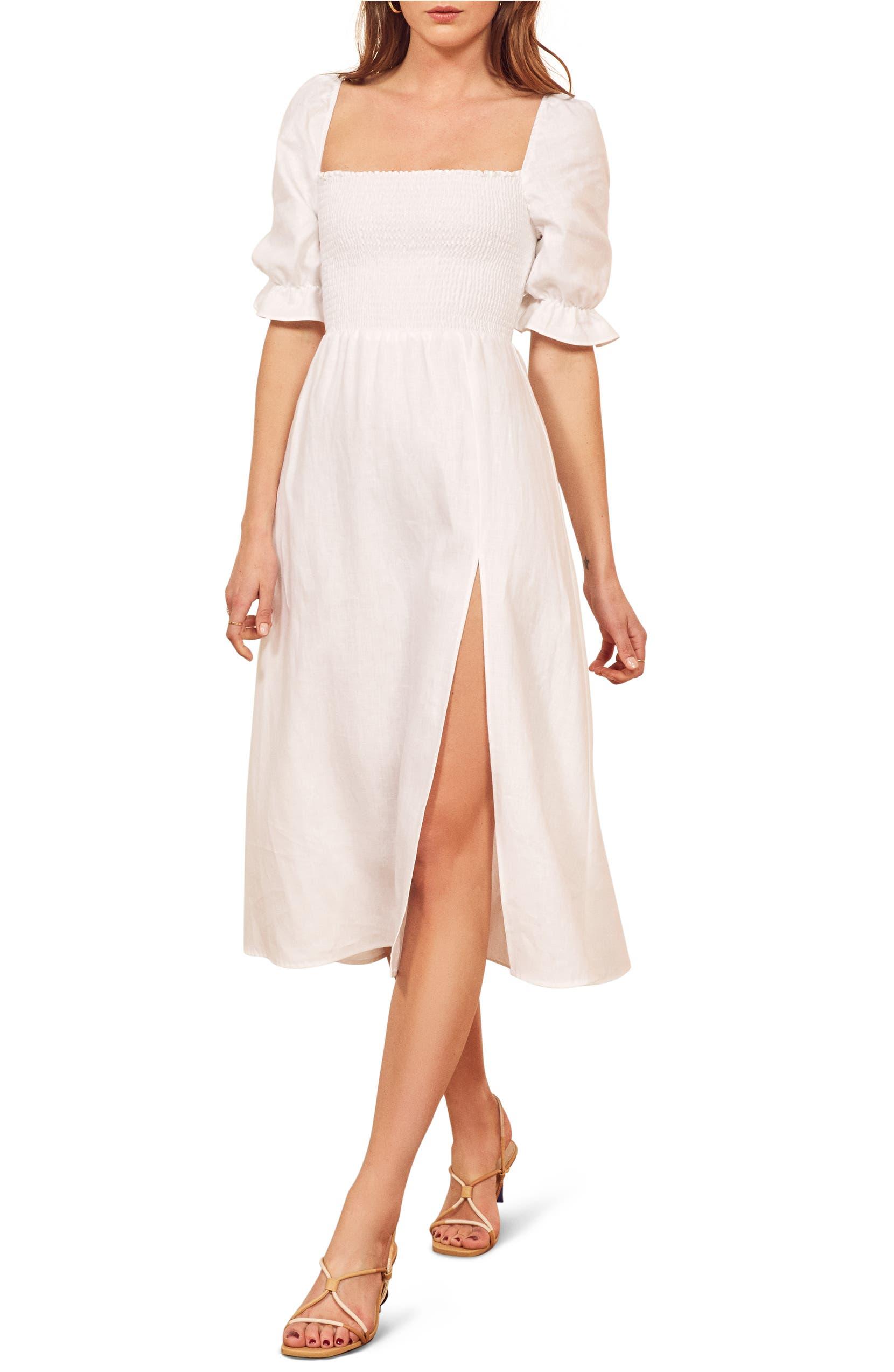 Reformation Marabella Linen Dress (Regular & Plus Size) | Nordstrom