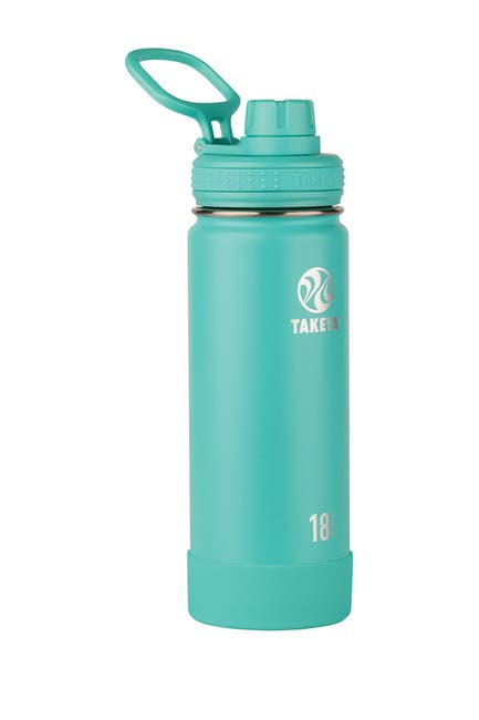 Image of Takeya Teal Active Insulated 18 oz. Stainless Steel Monochromatic Bottle
