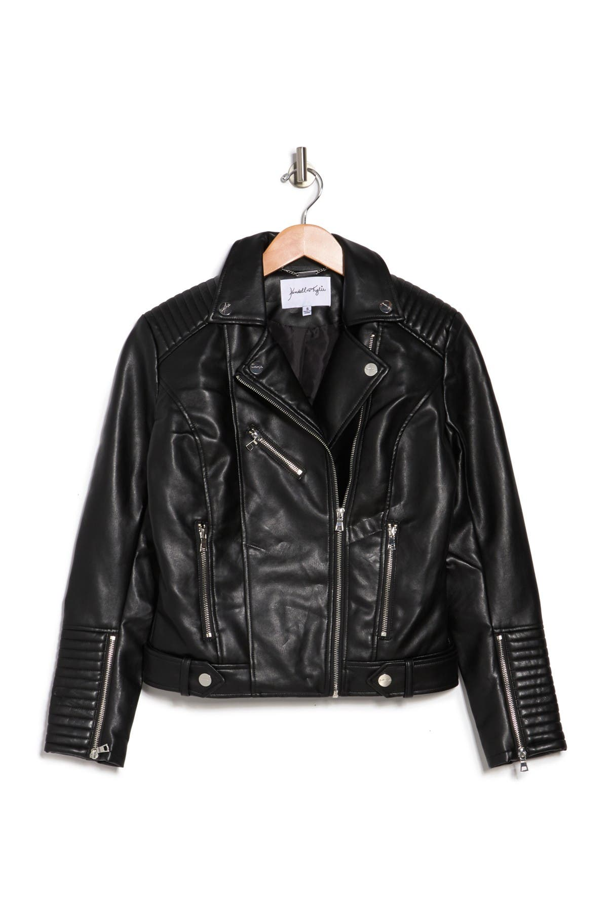 KENDALL AND KYLIE Faux Leather Moto Jacket