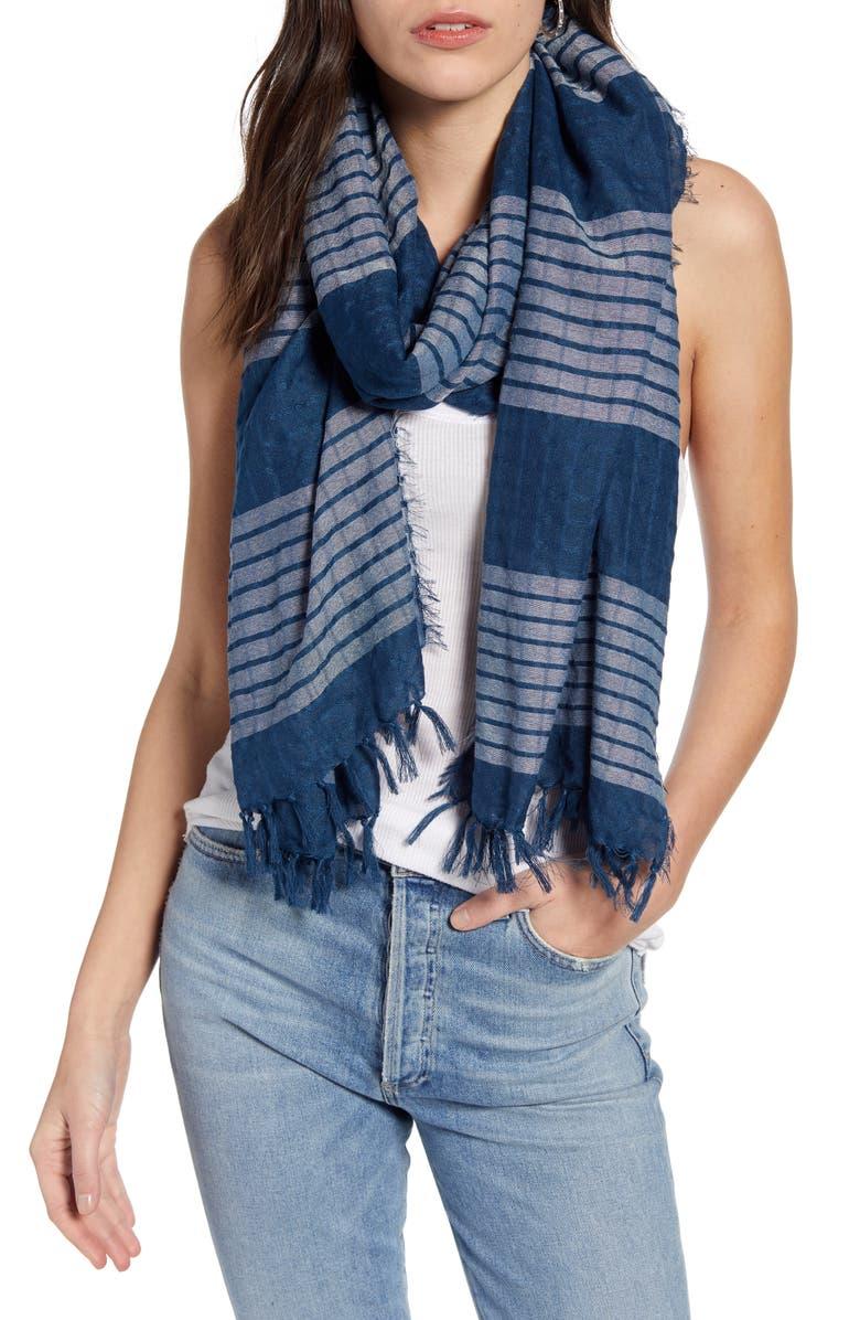 TREASURE & BOND Stripe Wrap Scarf, Main, color, 410